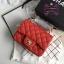 Chanel Classic Flap mini(Square) สีแดง งานHiend 1:1 thumbnail 1