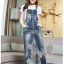 Lady Ribbon's Made Lady Tanya White T-Shirt and Sequin Embroidered Denim and Lace Overall Dress Set thumbnail 5