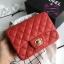 Chanel Classic Flap mini(Square) สีแดง งานHiend 1:1 thumbnail 2