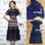 🎀 Lady Ribbon's Made 🎀Lady Adele Sweet Feminine Ruffle Pale Khaki Self-Portrait Lace Maxi Dress thumbnail 9