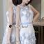 Seoul Secret Say's...Sweet Lace Bule Suquin Dress thumbnail 3