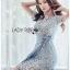 🎀 Lady Ribbon's Made 🎀Lady Sofia Graphic Two-Tone Baby Blue Dress thumbnail 4