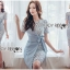 🎀 Lady Ribbon's Made 🎀Lady Sofia Graphic Two-Tone Baby Blue Dress thumbnail 2