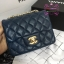 Chanel Classic Flap mini(Square) สีน้ำเงินกรม งานHiend 1:1 thumbnail 1