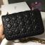 Dior addict flap bag สีดำ งานHiend Original thumbnail 4
