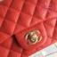 Chanel Classic Flap mini(Square) สีแดง งานHiend 1:1 thumbnail 3