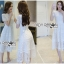 Lady Ribbon's Made Lady Leah Striped Layered White Lace Dress thumbnail 2