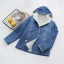 เสื้อคลุม/แจ็คเก็ตยีนส์แต่งฮู้ด ปักลาย บุขนสัตว์ด้านใน (มีให้เลือก 2 ไซส์) thumbnail 2