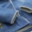 เสื้อคลุม/แจ็คเก็ตยีนส์แต่งฮู้ด ปักลาย บุขนสัตว์ด้านใน (มีให้เลือก 2 ไซส์) thumbnail 4