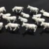 วัวจิ๋ว คละแบบสีขาว (สเกล 1:87) 100 ตัว