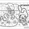 ภาพระบายสี จิ๊กซอว์แบบแผ่น มีถาดรอง 54 ชิ้น พร้อมถาดรอง Sanrio ซานริโอ้ My Melody มาย เมโลดี้