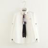 เสื้อเชิ้ตสีขาวแขนยาว แต่งเนคไท (มีให้เลือก 2 ไซส์)