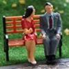 คนนั่ง สเกล 1:48 จำนวน 2 ตัว (ชาย-หญิง)