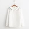 เสื้อเชิ้ตสีขาวแขนยาว ปักแต่งลาย (มีให้เลือก 2 ไซส์)