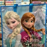 Shopping Bag กระเป๋าสปันบอลลายการ์ตูนเจ้าหญิงFrozen ไซส์เล็ก ขนาด 50*45*25 cm. ราคาส่ง 80 บาท