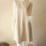 ชุดแซกทรงคอเต่า ผ้าลินิน Size:M
