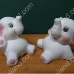 ตุ๊กตาเซอรามิคช้างน้อยฝาแฝด