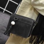 (Pre Order) ผู้หญิงกระเป๋าวินเทจหนัง Nubuck พู่กระเป๋าสตรีกระเป๋าสะพายสตรีขนาดเล็กพนังกระเป๋า Bolsa Feminina