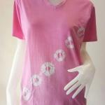 เสื้อยืดคอวีคอตตอน ย้อมสีธรรมชาติ TOAN39 Size:L