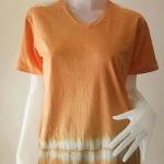 เสื้อยืดคอวีคอตตอน ย้อมสีธรรมชาติ TOAN38 Size:L