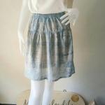 กระโปรงสั้น ผ้าคอตตอน มัดย้อมคราม Size:M