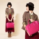(Pre Order) ลดกระหน่ำ! กระเป๋าแฟชั่นกระเป๋า หนังเย็บปะติดปะต่อกัน nubuck ของผู้หญิงกระเป๋าถือกระเป๋าสะพาย มี 3 สี ชมพู,ดำ,ฟ้า