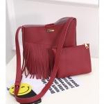 (Pre Order) แฟชั่นกระเป๋าถือที่มีคุณภาพสูงหนัง PU กระเป๋าผู้หญิงลิ้นจี่รูปแบบพู่กระเป๋าสะพายกระเป๋าความจุสูงหญิง มี 5 ดำ,น้ำตาล,ขาว,แดง,ชมพู,