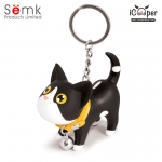 Semk - Kat Key Ring (Black & White Cat)