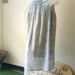 กระโปรงยาว ผ้าคอตตอน มัดย้อมคราม Size:S