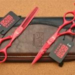 กรรไกรตัดผมซอยผม Kasho Red Blazers 6.0