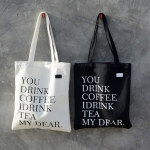 { พร้อมส่ง } กระเป๋าผ้า/ถุงผ้าพิมพ์ลาย