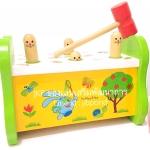 ของเล่นเสริมพัฒนาการ ของเล่นไม้ ของเล่นชุดทุบกระต่ายผลุบๆโผล่ๆ