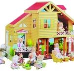 บ้านตุ๊กตากระต่าย 2 ชั้น Happy Family