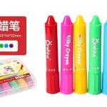 Onshine Silky Crayons สีเทียนเนื้อนิ่มแท่งโต 6 สี