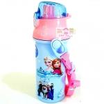กระติกน้ำเด็ก มีสายสะพายแบบยกดื่ม + ใส่หลอดดูดได้ ลาย Frozen