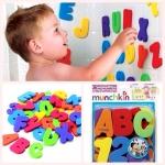 ตัวอักษรลอยน้ำ-ติดฝาผนัง (Munchkin Floating Letters)