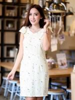 DS0022 เสื้อผ้าแฟชั่น เสื้อผ้าเกาหลี เสื้อผ้าแฟชั่นเกาหลี เดรสเกาหลี เดรสทำงาน แซก ชุดเดรส เดรสน่ารัก เดรสสั้น เดรส Dress