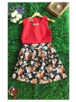 DS0015 เสื้อผ้าแฟชั่น เสื้อผ้าเกาหลีเดรส Dress ชุดเดรส เดรสสั้น เดรสเกาหลี