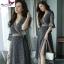 MD0014 เสื้อผ้าแฟชั่นเกาหลี เดรสเกาหลี เดรสยาว เดรสแฟชั่น แม็กซี่เดรส Maxidress ลายดอก Maxi Dress thumbnail 1