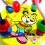ของเล่นไม้เสริมพัฒนาการ ขดลวดฝึกสมาธิเล็ก ลายเสือน้อยสีเหลือง thumbnail 3