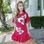DS0026 เสื้อผ้าแฟชั่น เสื้อผ้าเกาหลีเดรส Dress ชุดเดรส เดรสสั้น เดรสเกาหลี เดรสทำงาน thumbnail 1