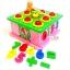 กล่องไม้บล็อคหยอดตัวเลข+ค้อนทุบลูกบอล 9 ช่อง thumbnail 2