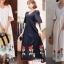 MD0016 เสื้อผ้าแฟชั่นเกาหลี เดรสเกาหลี เดรสยาว เดรสแฟชั่น แม็กซี่เดรส Maxidress ลายดอก Maxi Dress (สีครีม) thumbnail 4