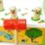 ของเล่นเสริมพัฒนาการ ของเล่นไม้ ของเล่นชุดทุบกระต่ายผลุบๆโผล่ๆ thumbnail 3