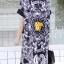 DS0046 เดรสไซต์ใหญ่ เดรสสาวอวย เดรสแฟชั่น เดรสเกาหลี เดรสยาว เดรสใส่เที่ยว เดรสใส่ทำงาน (สีดำ) thumbnail 7