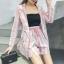 PS0018 เสื้อผ้าแฟชั่น เสื้อผ้าเกาหลี ชุดเซ็ทเกาหลี ชุดเซ็ต ชุดไปเที่ยว ชุดออกงาน ชุดทำงาน (สีชมพู) thumbnail 2