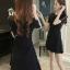 DS0048 เดรสแฟชั่นเกาหลี เดรสไหมพรม เดรสใส่ออกงาน เดรสลำลอง เดรสใส่เที่ยว เดรสใส่ไปงาน เดรสทำงาน เดรสสีดำ thumbnail 3