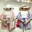 PS0019 เสื้อผ้าแฟชั่น เสื้อผ้าเกาหลี ชุดเซ็ทเกาหลี ชุดเซ็ต ชุดไปเที่ยว ชุดออกงาน ชุดทำงาน (สีฟ้า) thumbnail 3