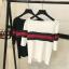 TP0031 เสื้อแฟชั่น เสื้อทำงาน เสื้อไปเที่ยว เสื้อออกงาน เสื้อไหมพรม เสื้อยืดแขนสั้น (สีดำ) thumbnail 3