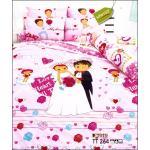 toto ผ้าปูที่นอนลายแต่งงาน ลายน่ารักน่านอน TT264